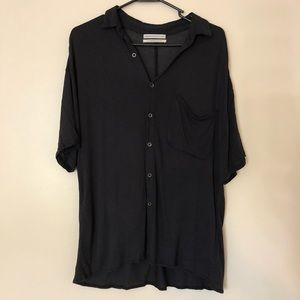 Urban Outfitters black collared button down shirt